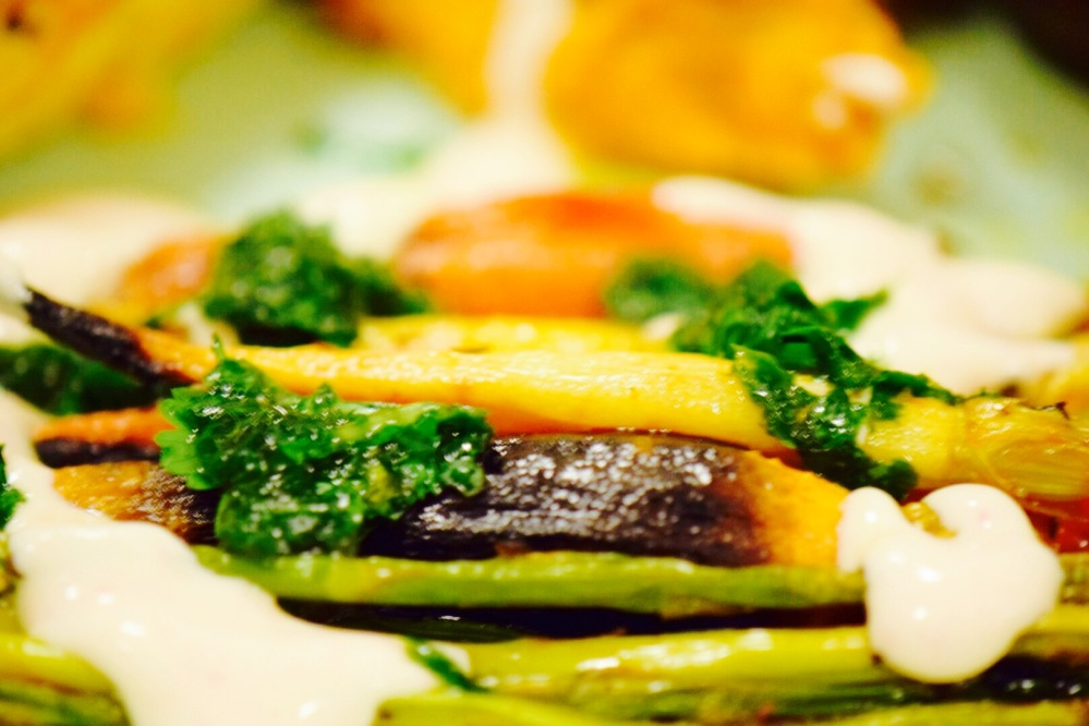 harissa-roasted-rainbow-carrots