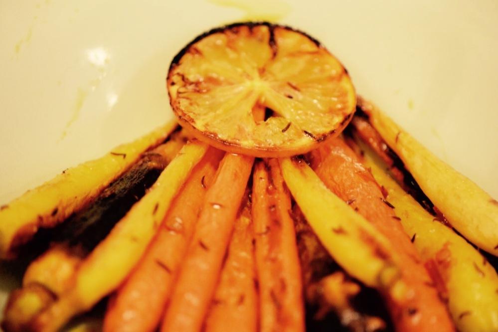harrisa-and-cumin-roasted-rainbow-carrots