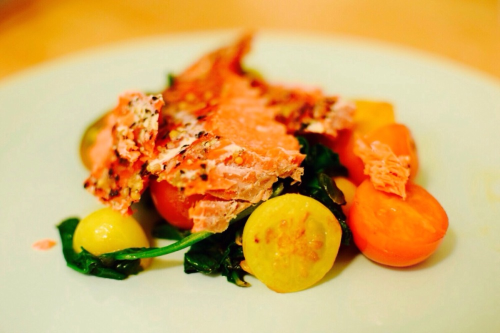 salmon-and-tomatoes
